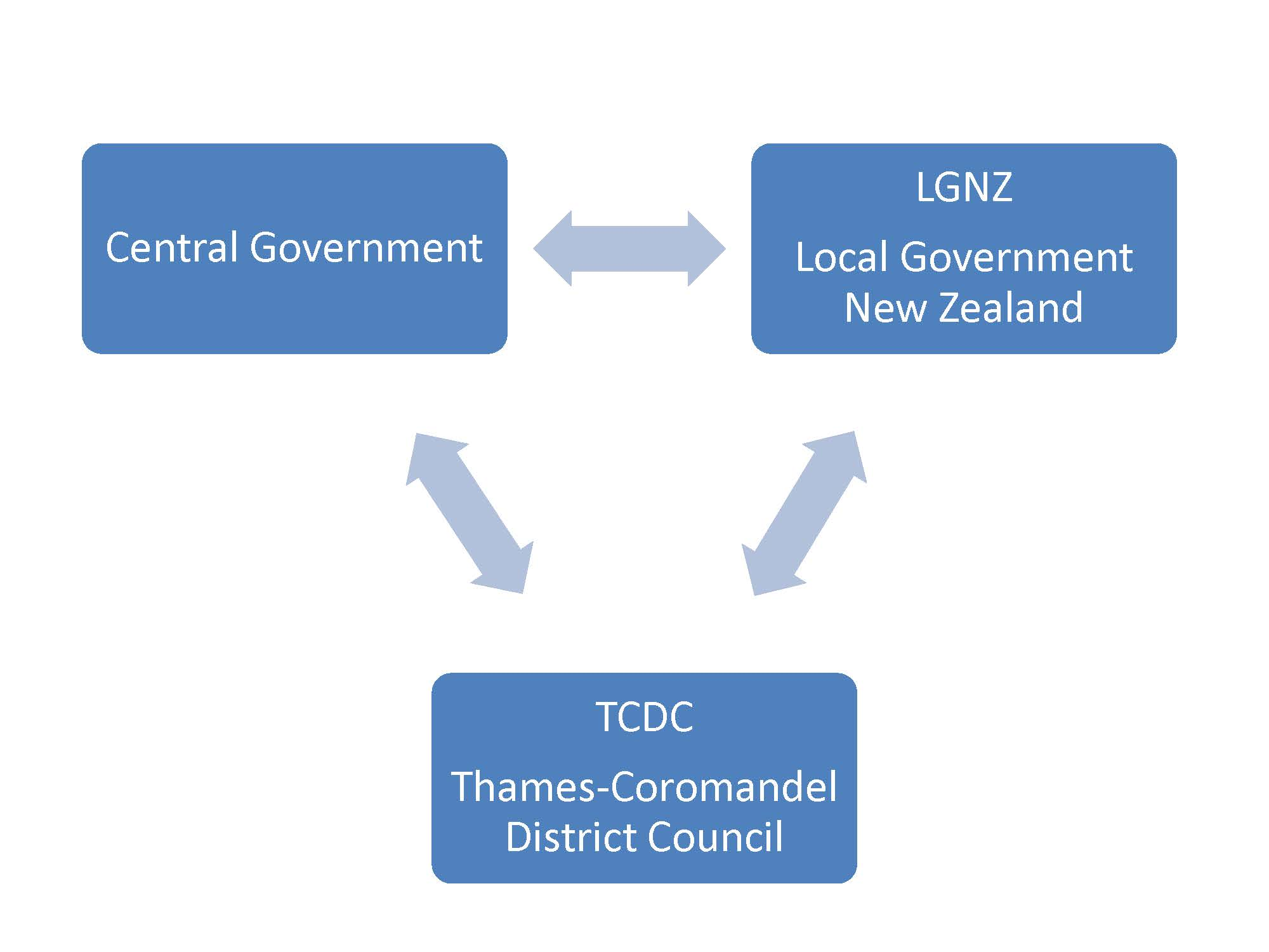 Triangular relationship between central government, council and LGNZ