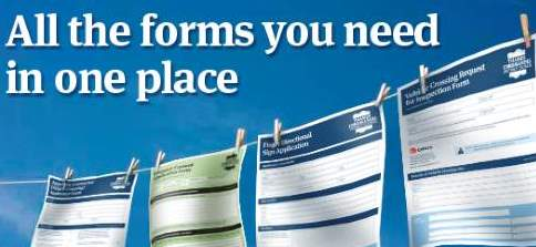 Forms page banner