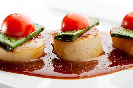 Photo of scallops in food stall