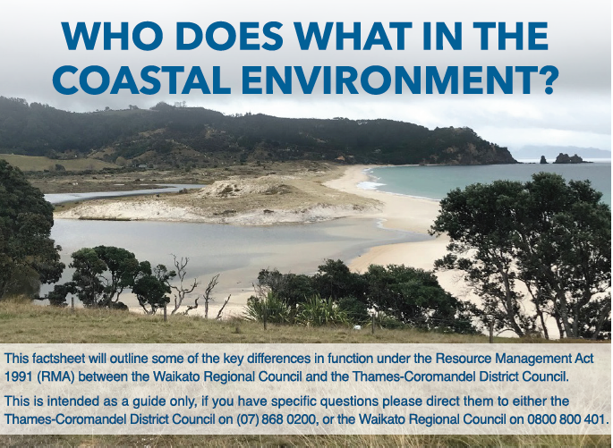 Who does what in the coastal environment