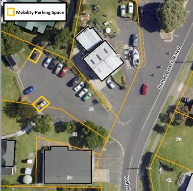 Hahei Hall parking changes April 2019