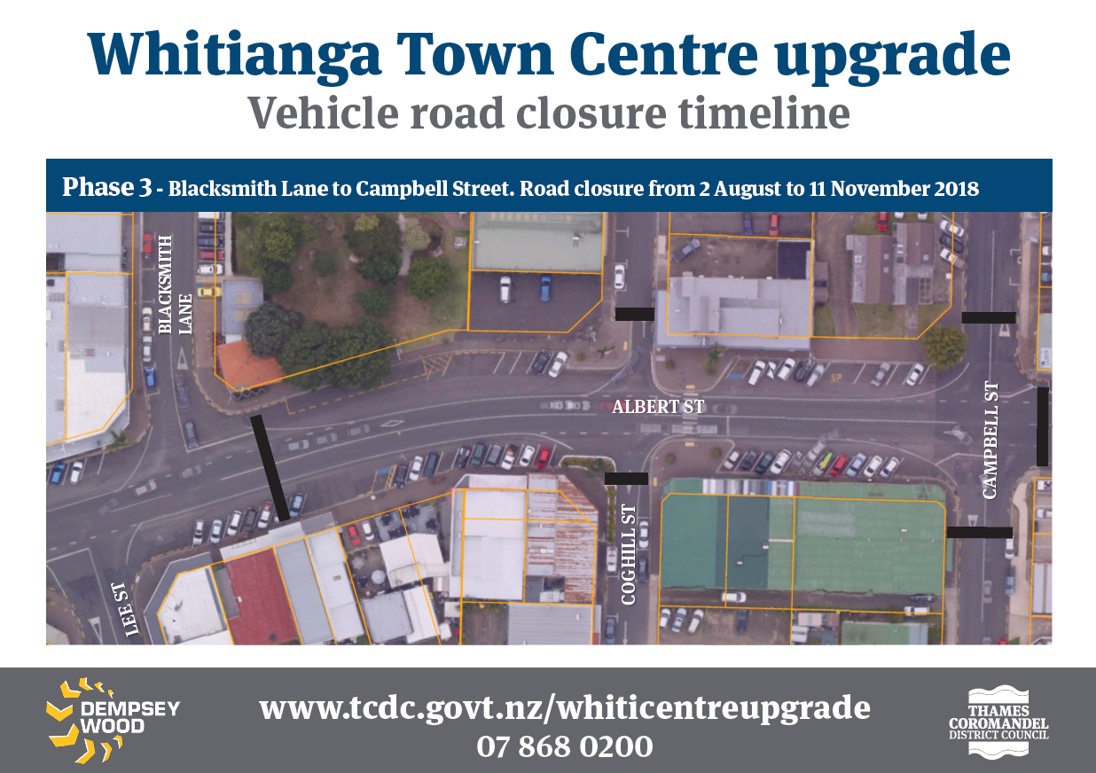 Phase 3 Whitianga Town Centre upgrade